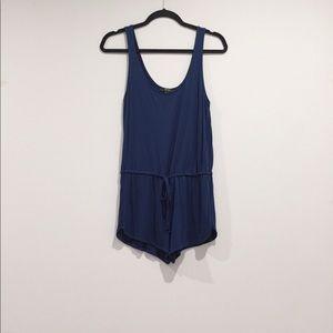 blue loose romper playsuit jumpsuit